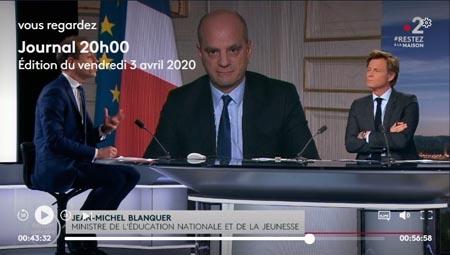 Journal télévisé de 20h sur France, quand la crise du coronovaris touche les colonies de vacances